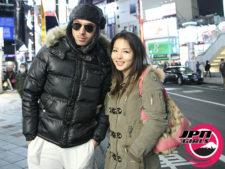 渋谷でラブホに入る前にツーショット。日本人の女子は白人にホイホイついていく